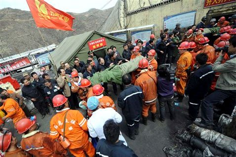 Scores rescued from flooded coal mine in China