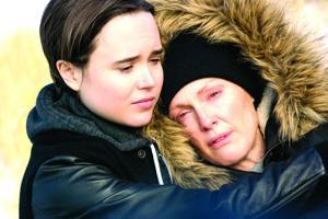 <p>Laurel Hester (Julianne Moore, right) and Stacie Andree (Ellen Page, left) in <em>Freeheld</em>.</p>