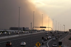Dust Storm Enters East Valley
