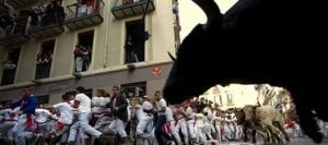 SLIDESHOW: Running of the bulls in Pamplona, Spain