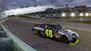 Johnson wins 4th straight NASCAR championship