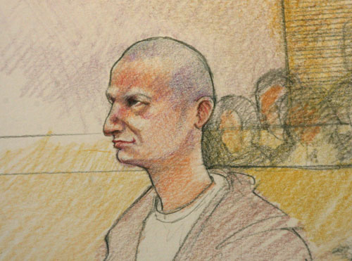Maggie Keane sketch of Jared Loughner