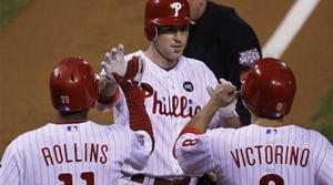 Utley, Lee help Phils stay alive