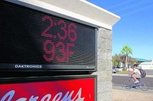 Valley temperatures break records Tuesday