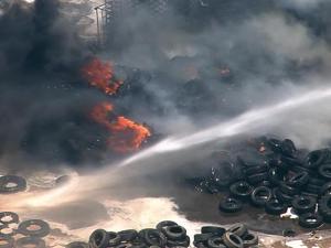 Debris fire