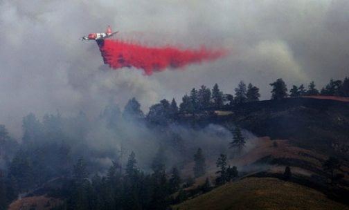 Heavy rains complicate firefighting efforts
