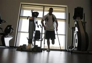 Wounded troops recover as coverage wanes