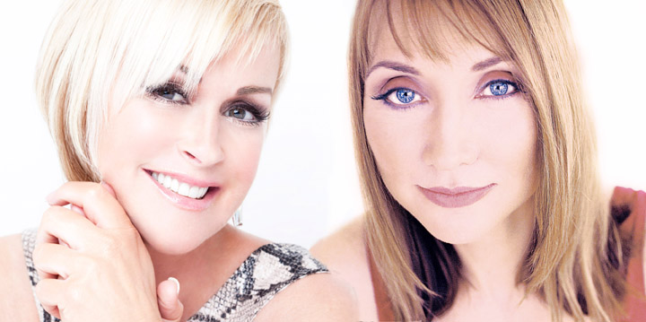 Pam Tillis and Lorrie Morgan perform together Saturday in Chandler
