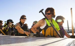<p>The AZ Dragon Riders at Tempe Town Lake on Saturday, June 28, 2014. The AZ Dragon Riders are a competitive Dragon Boat paddling team made up of all ages. They practice three times a week and are open for anyone to join them.</p>