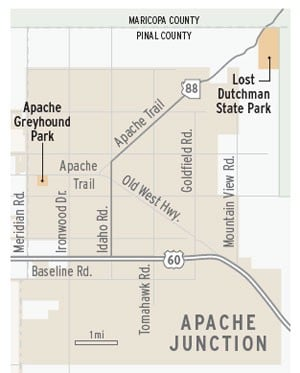 Apache Junction map