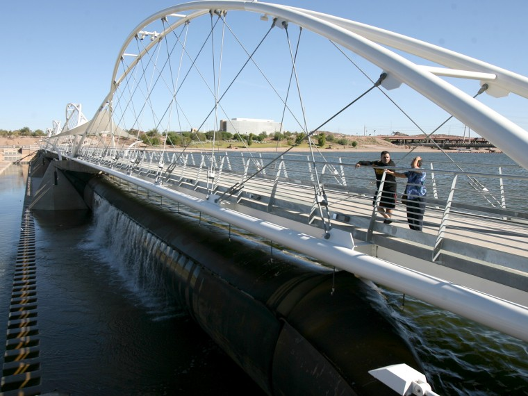 Pedestrian Bridge Open