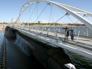 Pedestrian Bridge Open