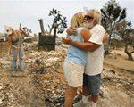 Firefighters battle huge California blaze