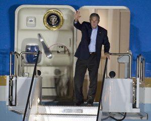 Bush arrives in Tucson for fundraiser