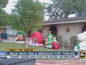 Mesa man puts up thank-you sign for thieves