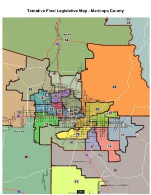 Maricopa County Legislative Redistricting Map