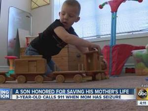 Mesa toddler honored by Fire Department