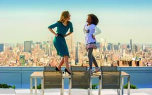 "<p>Rose Byrne, left, and Quvenzhané Wallis in a scene from ""Annie.""</p><p></p>"