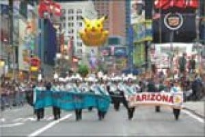 Highland marching band performs in New York