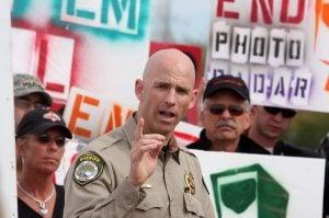 Protestors gather to denounce speed cameras