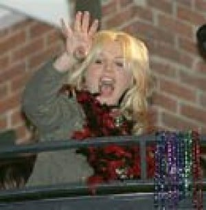 Britney Spears celebrates Mardi Gras