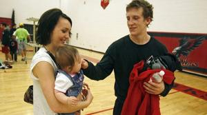 Standout prep wrestler is married father