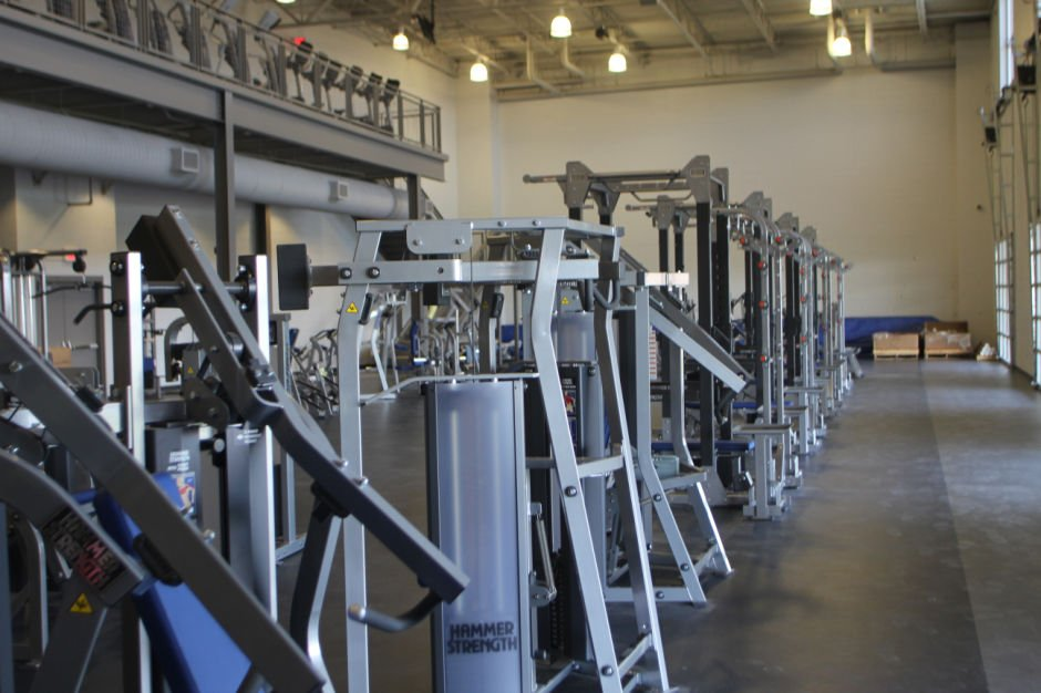 Cubs weight room