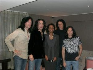 Condoleezza Rice enlists in Kiss Army fan club
