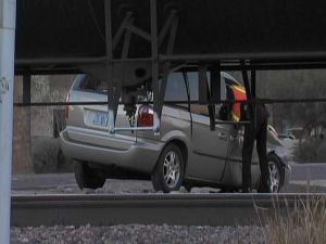 Minivan struck by train in Tempe