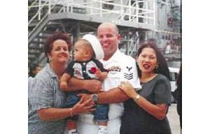 Red tape splits Navy family