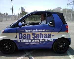 Saban 'Smart Car': Not exactly a sheriff's steed