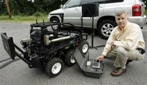 Grief leads father to create bomb-defusing robot