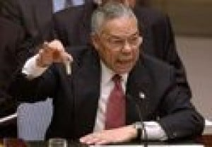 Powell sees inspectors visit as key to Iraqi situation