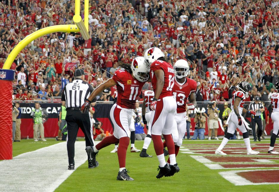 Larry Fitzgerald, Andre Roberts, Jaron Brown