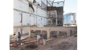 Original foundation of Hayden Flour Mill found