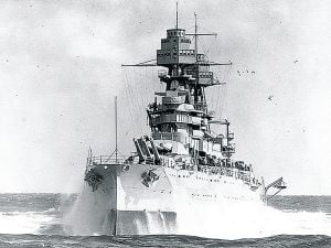 In life, USS Arizona had movie role, scandal