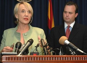 Brewer, Goddard disagree on health care suit