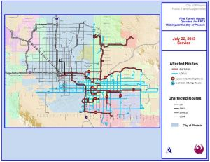 East Valley Bus Routes affected by strike