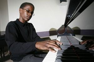 Ball-playing teen pianist also composes