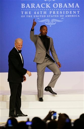 Joe Biden, Jamie Foxx