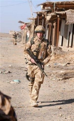 Britain's Prince Harry in Afghanistan