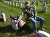 Lincoln Journal Star Photo: Chip Williams visits his parents in Wyuka Cemetery