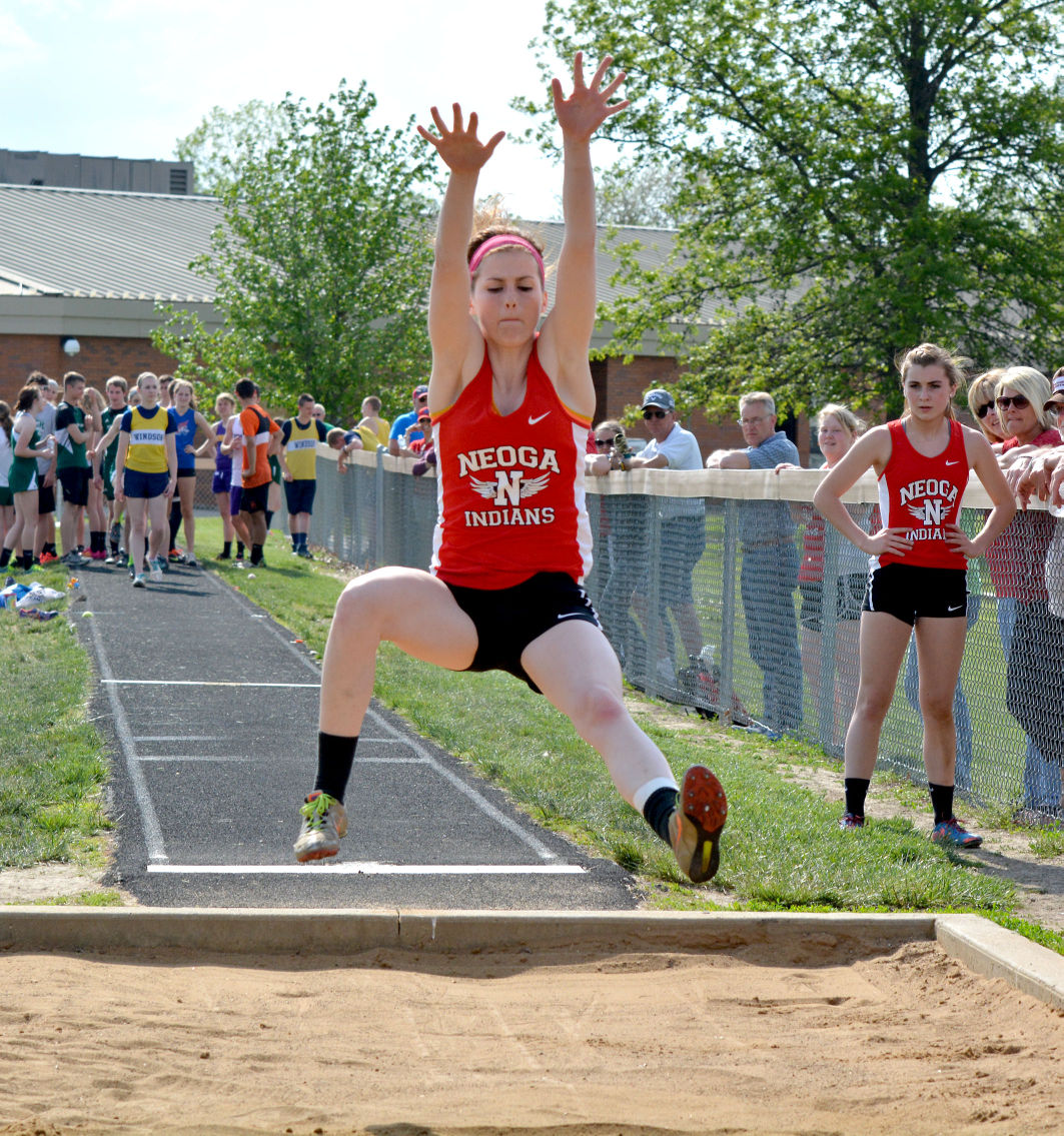neoga girls Altamont – olivia ott won the long jump and triple jump and ran on neoga's winning 4x200-meter relay leading the lady indians to second among six girls' track teams in.