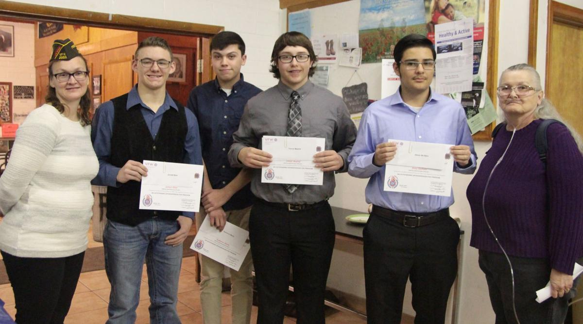 vfw honors voice of democracy winners news elkodaily com vfw honors voice of democracy winners