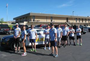 Law enforcement torch run for the Special Olympics