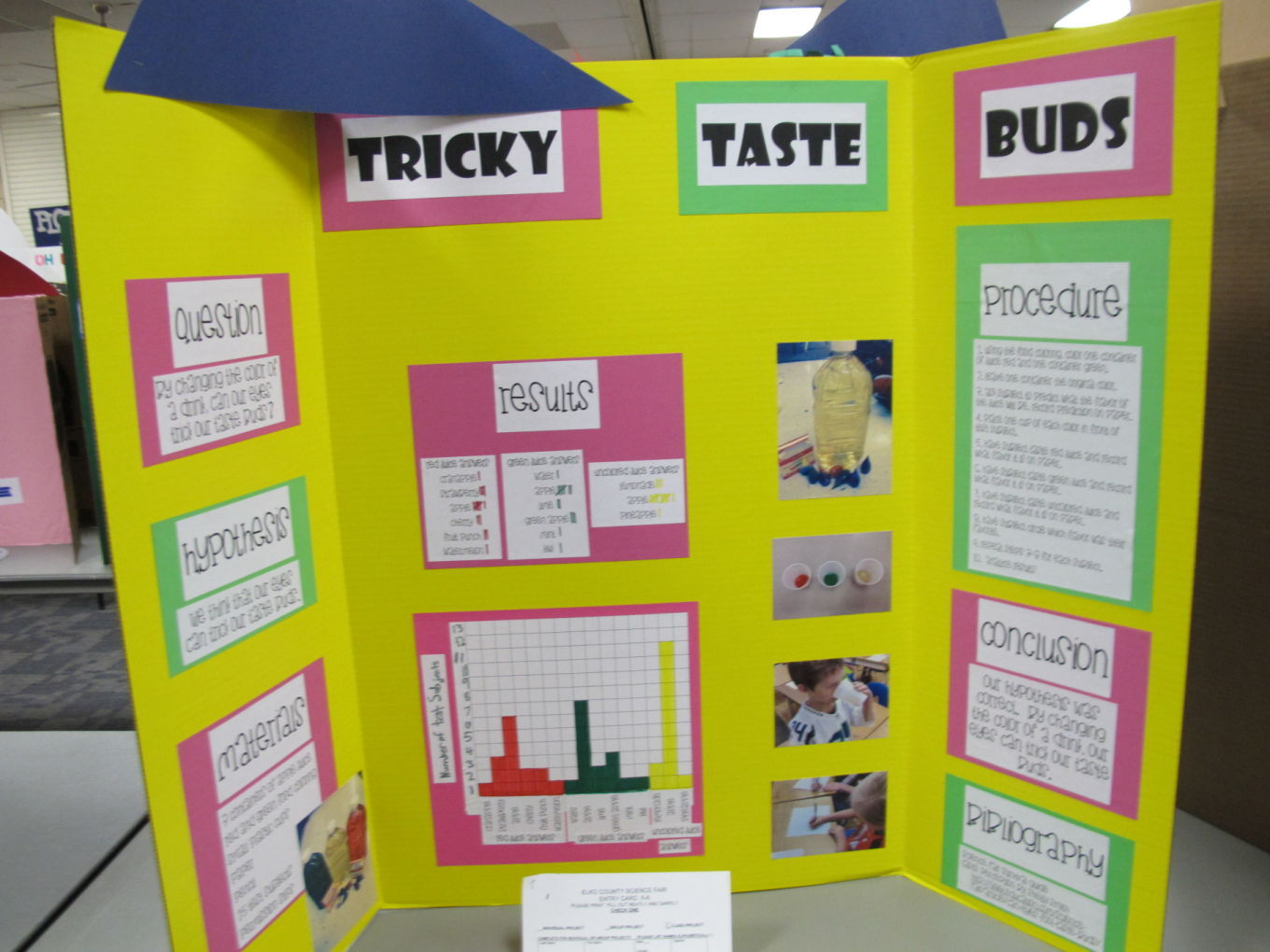 Poster boards for science fair