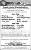 Multiple Factory Positions Available