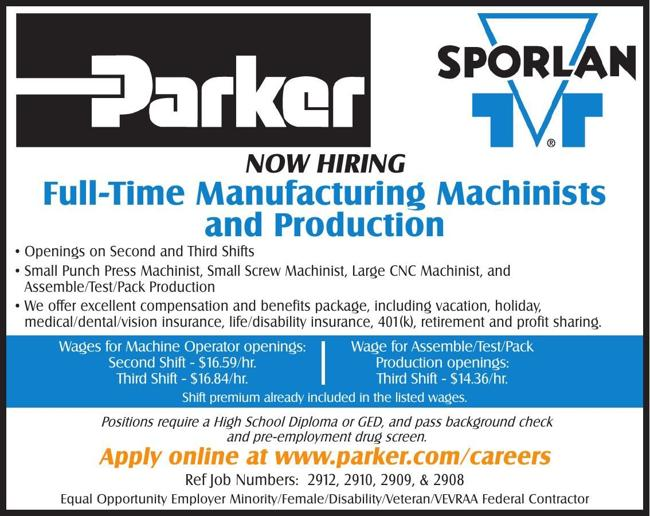 Full-Time Manufacturing Machinists and Production