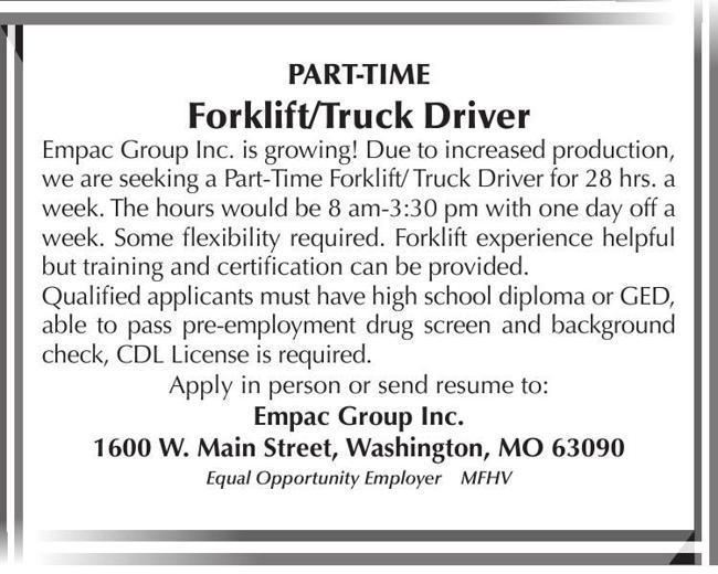 Forklift & Truck Driver