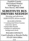 Substitute Bus Drivers Needed!